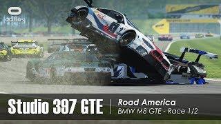 rFactor 2 - Studio 397 GTE - Road America (37 cars) - RD Club Race 1/2 - BMW M8 GTE