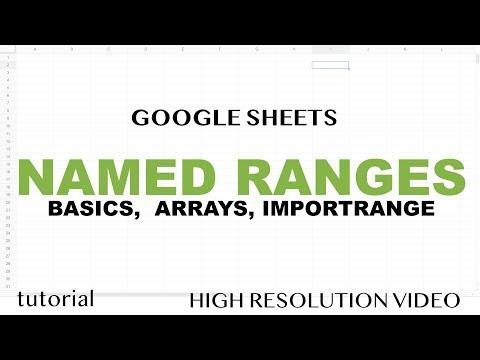 Google Sheets - Named Ranges, Dynamic Updates, with IMPORTRANGE