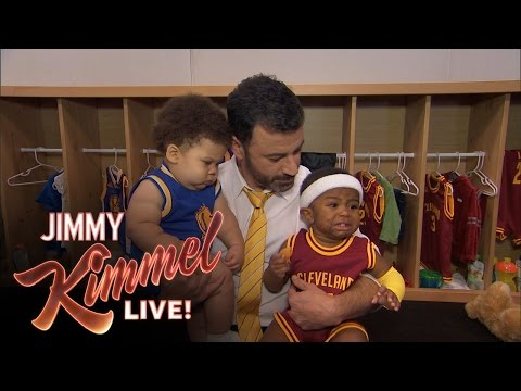 Jimmy Kimmel Interviews Baby Steph Curry & Baby Lebron James Part 2