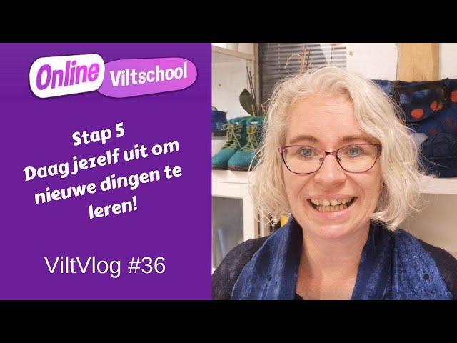 Viltvlog #36 stap 5 daag jezelf uit om nieuwe dingen te leren