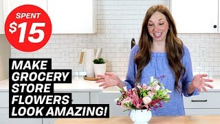 Make grocery store flowers look AMAZING! (tips and tricks)