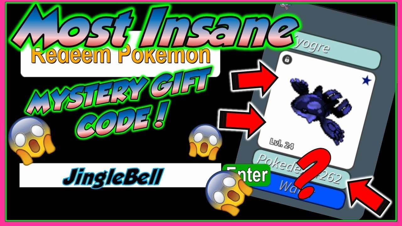 *CRAZY JingleBell CODE! * MYSTERY GIFT CODE/ FRIDAY IN PROJECT POKEMON/ ROBLOX - YouTube