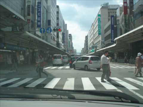 Road to Kyoto Station by car