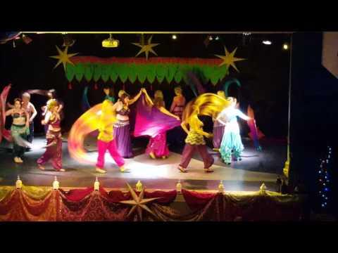 Jawahir Summer 2016 part 1 Poi and veil belly dance