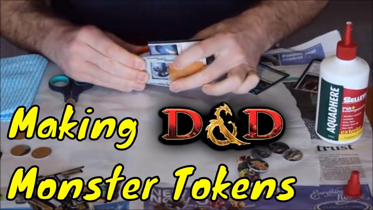 D&D (5e): Making Dungeons & Dragons Monster Tokens