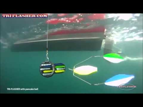 Salmon tri flasher youtube for Salmon fishing setup