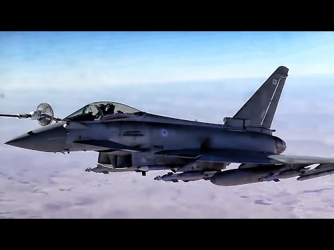 Australian F-18s & British Eurofighters Get Gas Over Iraq