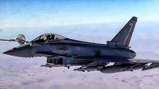 Australian F-18s & British Eurofighters Get Gas Over Iraq