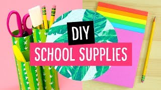 5 DIY Back to School Supplies & Desk Accessories! ✏️ Sea Lemon