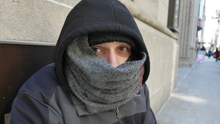 Daniel is homeless in Philadelphia. The weather was freezing cold.