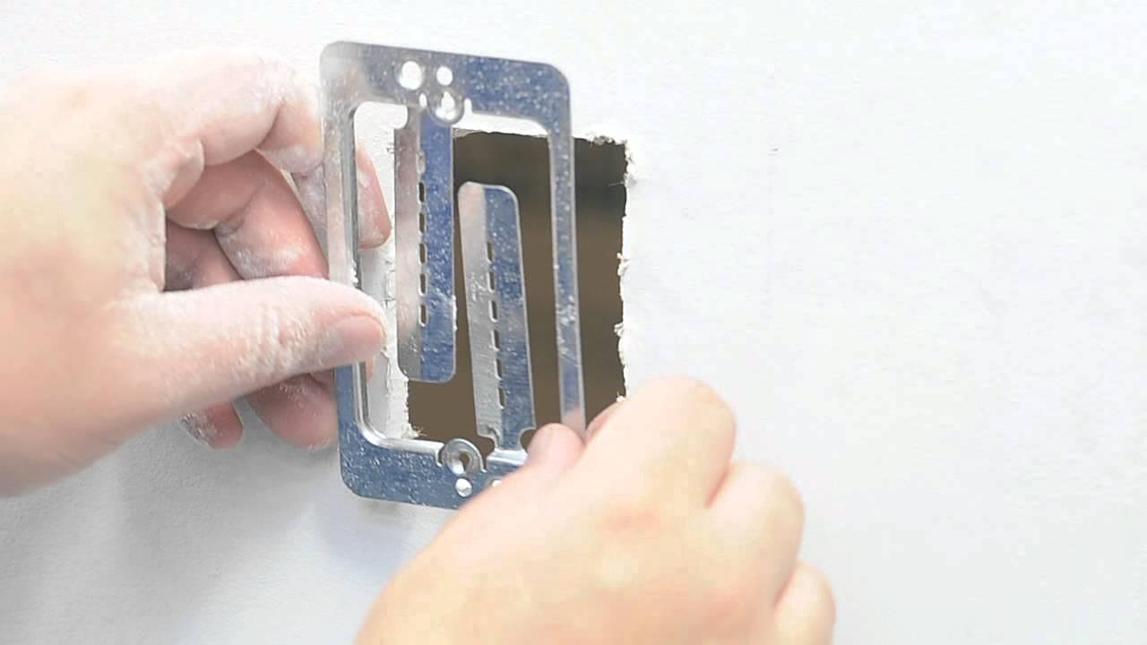 low voltage mounting bracket single gang youtube rh youtube com