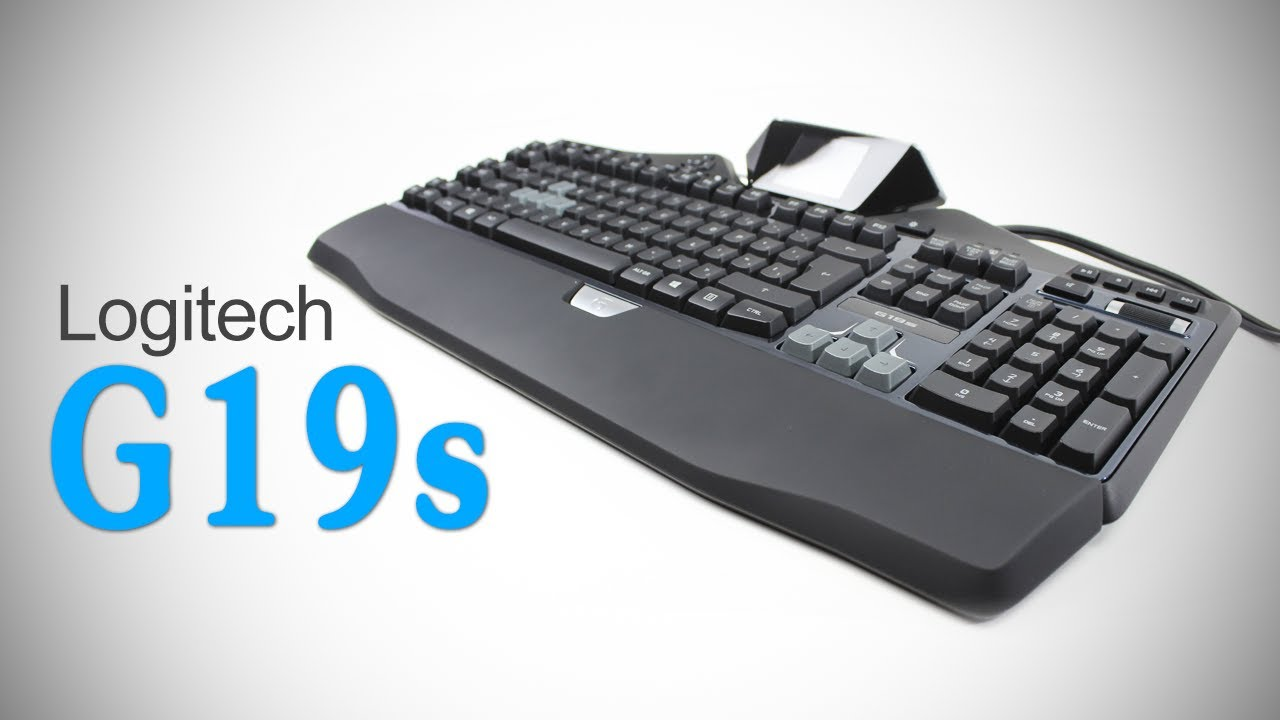 Logitech G19s Gaming Keyboard Unboxing & Review - YouTube