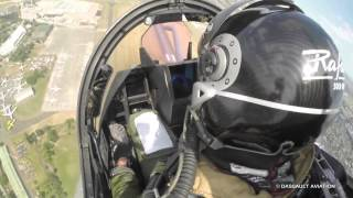 The Rafale's demonstration from the cockpit - 2015 Paris Air Show - Dassault Aviation