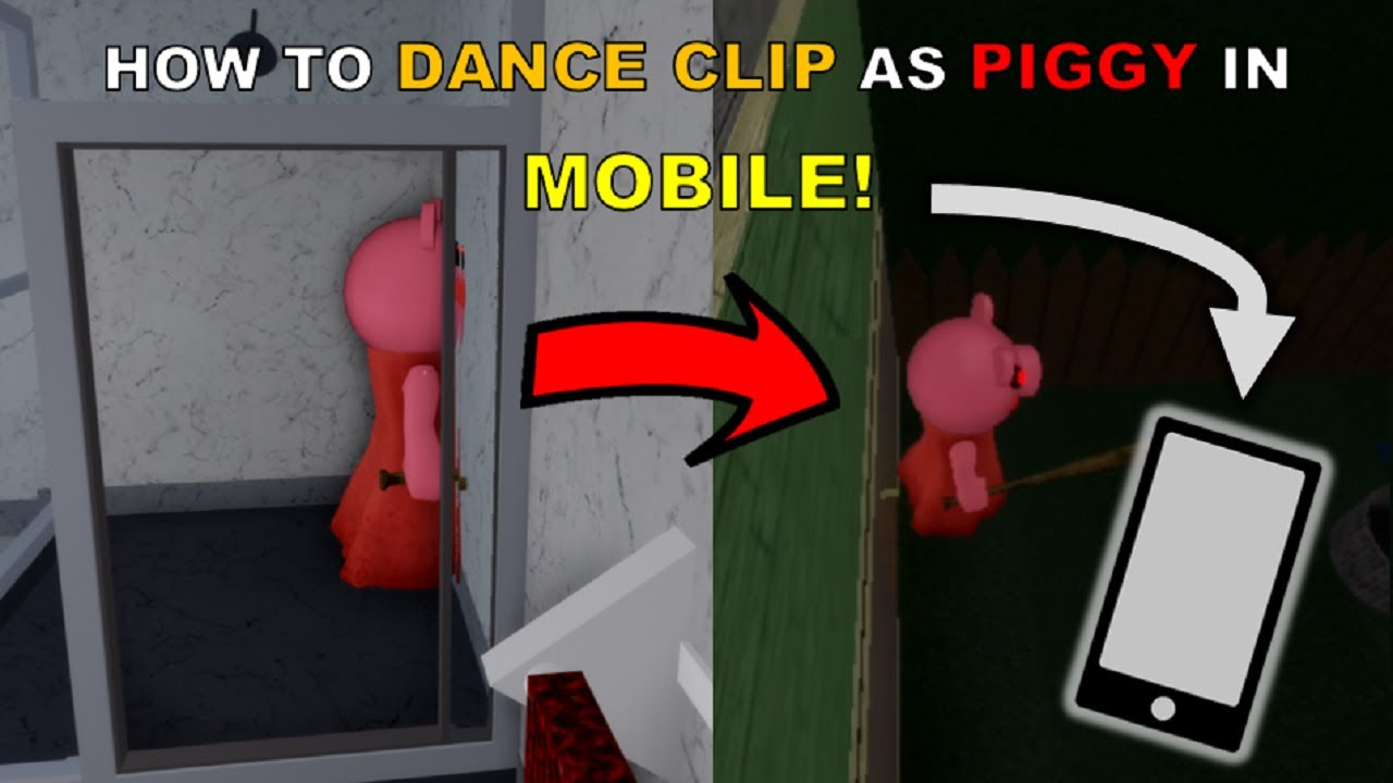 Easy and Simple! | How to DANCE CLIP as PIGGY in MOBILE [Roblox Piggy Glitches]