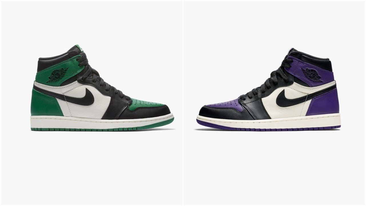 new arrival ffa32 15e3a ... closeout air jordan 1 high og pine green court purple how many pairs  made market value