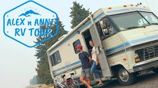 RV TOUR - Couple Is Loving The RV Life In This Cool Vintage RV