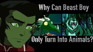Why Can Beast Boy Only Turn Into Animals? (Young Justice)