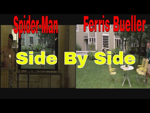 Spider-Man Homecoming Ferris Bueller Side By Side Comparison