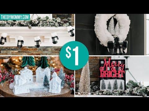 DIY DOLLAR TREE CHRISTMAS DECOR | Farmhouse Inspired 🎄