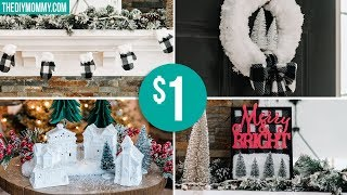 DIY DOLLAR TREE CHRISTMAS DECOR | Farmhouse Inspired 🎄
