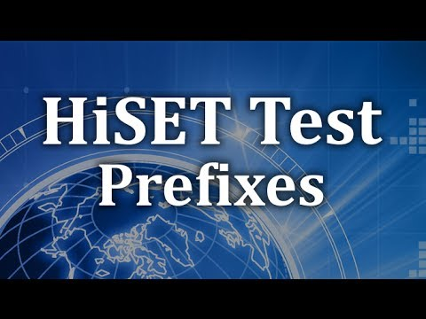 HiSET Language Arts - Reading Comprehension - Prefixes Review