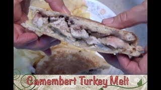 Turkey Camembert Melt with Cranberry cheekyricho cooking easy lunch recipe ep, 1,201