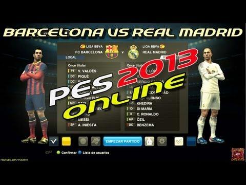 PES 2013 Online: Barcelona vs Real Madrid + PESEDIT / Relatos Closs & Niembro