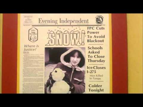 SNOW IN FLORIDA! St.Petersburg Times Headlines Of The Past