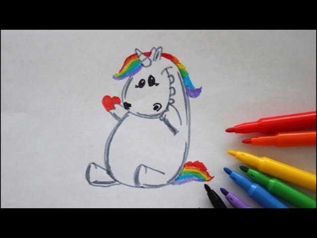 15 57 Mb Pummel Einhorn Zeichnen Mit Herz How To Draw