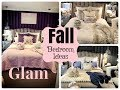 GLAM FALL BEDROOM DECORATING