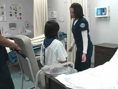 Nursing Transfer Patient From Bed To Wheelchair Youtube