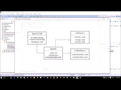 UML to java code tutorial in Bangla