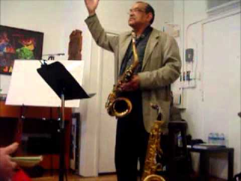 Ernie Watts shares his thoughts spirituality and music.wmv