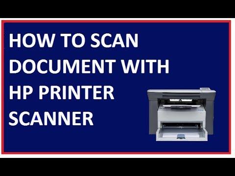 Hp Laserjet M1005 Mfp Scanning Documents Youtube