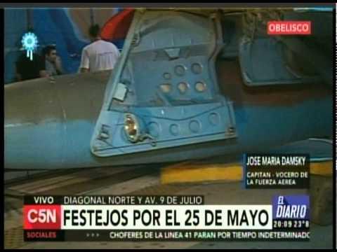 C5N - SEMANA DE MAYO: FESTEJOS EN EL OBELISCO (PARTE 3)