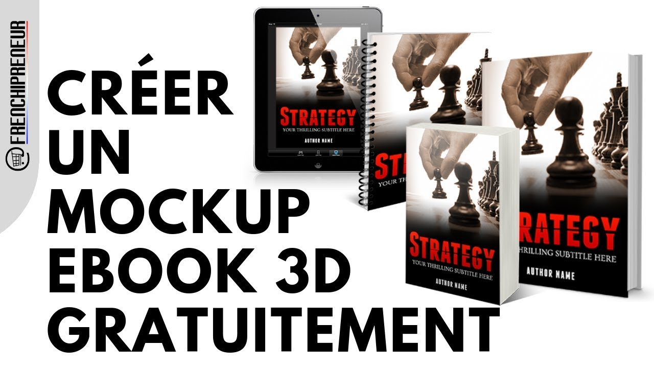 Creer Un Mockup Ebook Gratuit En 3d Votre Couverture Ebook Sans Payer Un Centime