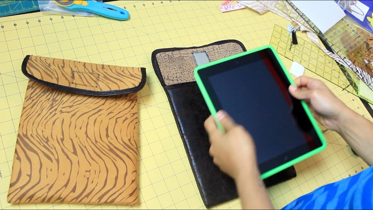 How to Make an iPad or Tablet Case- DIY Tutorial - YouTube