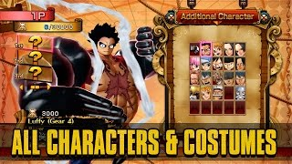 One Piece: Burning Blood - All Characters (Playable & Support), Costumes, & Stages