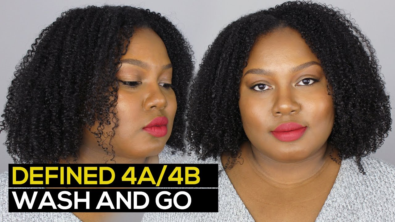 Wash And Go On 4a 4b Natural Hair Ammina Rose Youtube