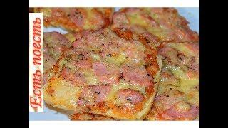 Бутерброд-пицца  или  пицца на хлебе.