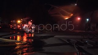 Fire Chatsworth Commercial Building Fire. Stock Footage