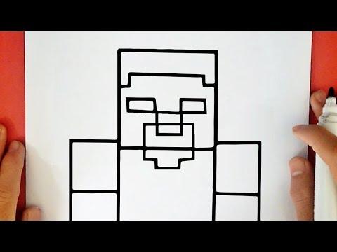 herobrine steve drawing minecraft