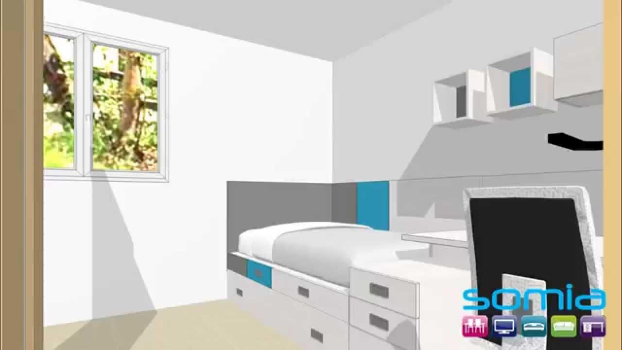 Dise ar dormitorio juvenil 3d casa dise o for Disenar muebles 3d