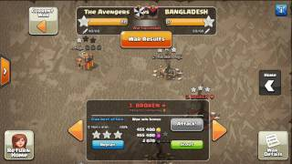 3 Stars Clan War (TH9 VS TH9):  Attack Strategy Townhall 9 | Clash of Clans| low level heroes