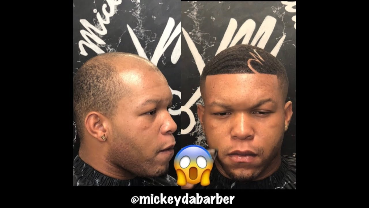 must see dope hair unit transformation by @mickeydabarber