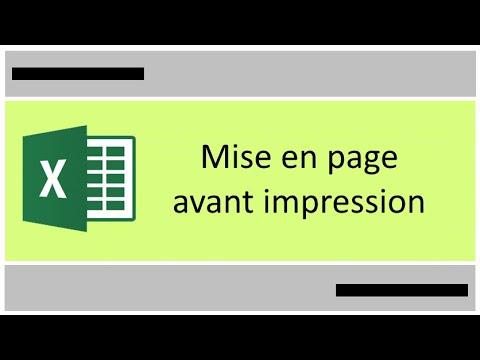 Mise En Page Excel Avant Impression