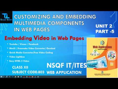 Embed Video in Web Page | Customizing & Embedding Multimedia Component in Web Pages | CLASS XII |803