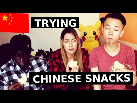 TRYING CHINESE SNACKS