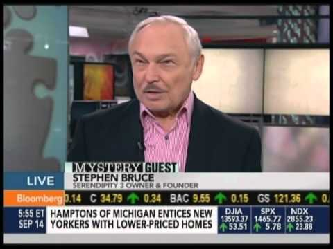 Stephen Bruce, mystery guest on Bloomberg's Taking Stock with Pimm Fox