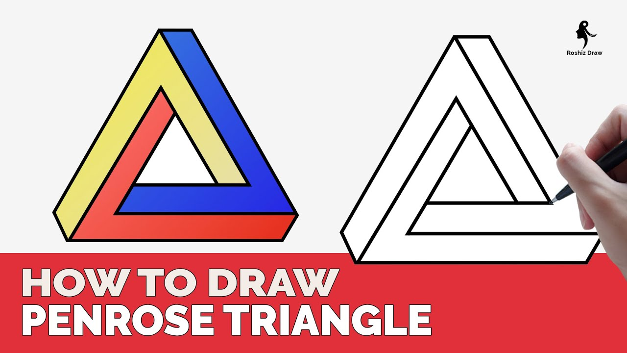 HOW TO DRAW IMPOSSIBLE PENROSE TRIANGLE EASY